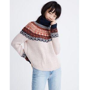 Madewell | Brookdale Fair Isle Turtleneck Sweater